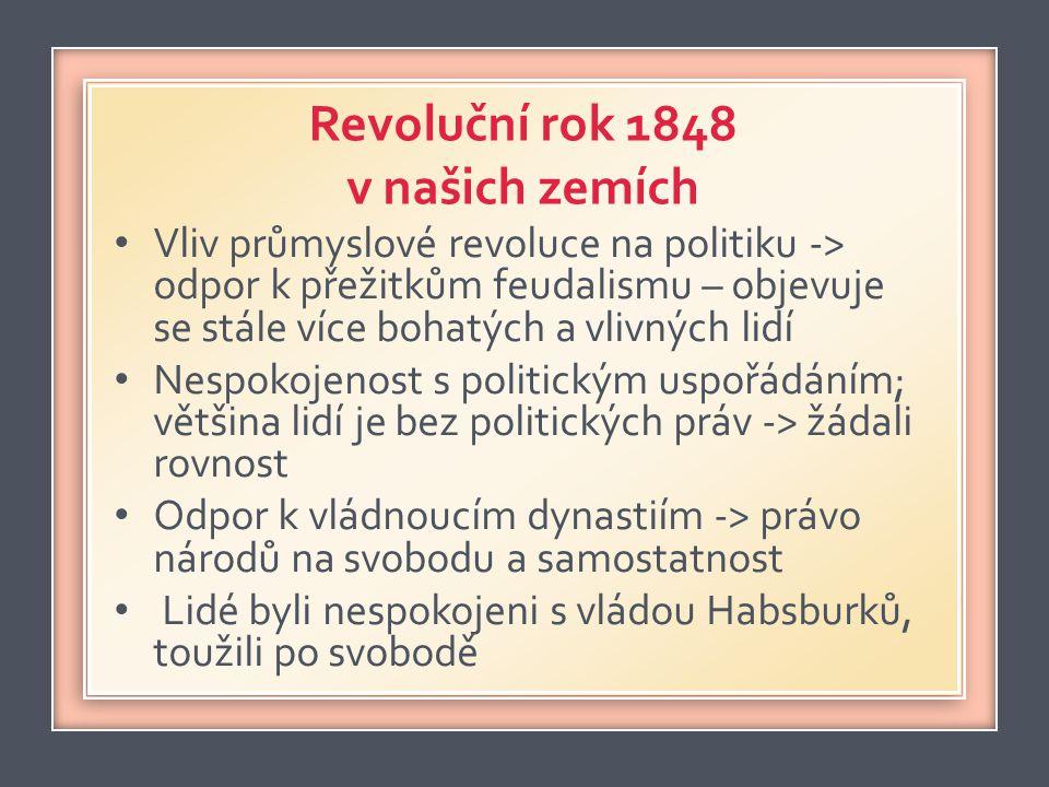 Revoluční rok 1848 v našich zemích
