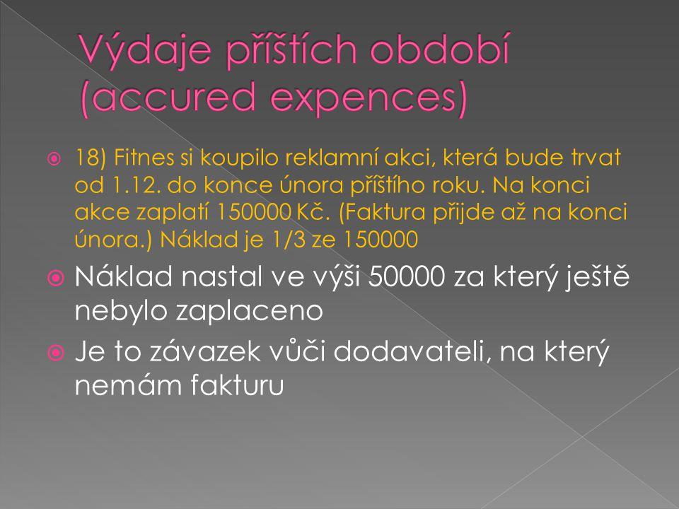 Výdaje příštích období (accured expences)