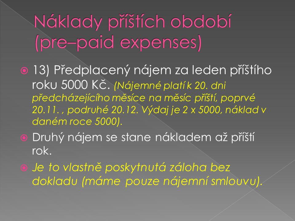 Náklady příštích období (pre–paid expenses)