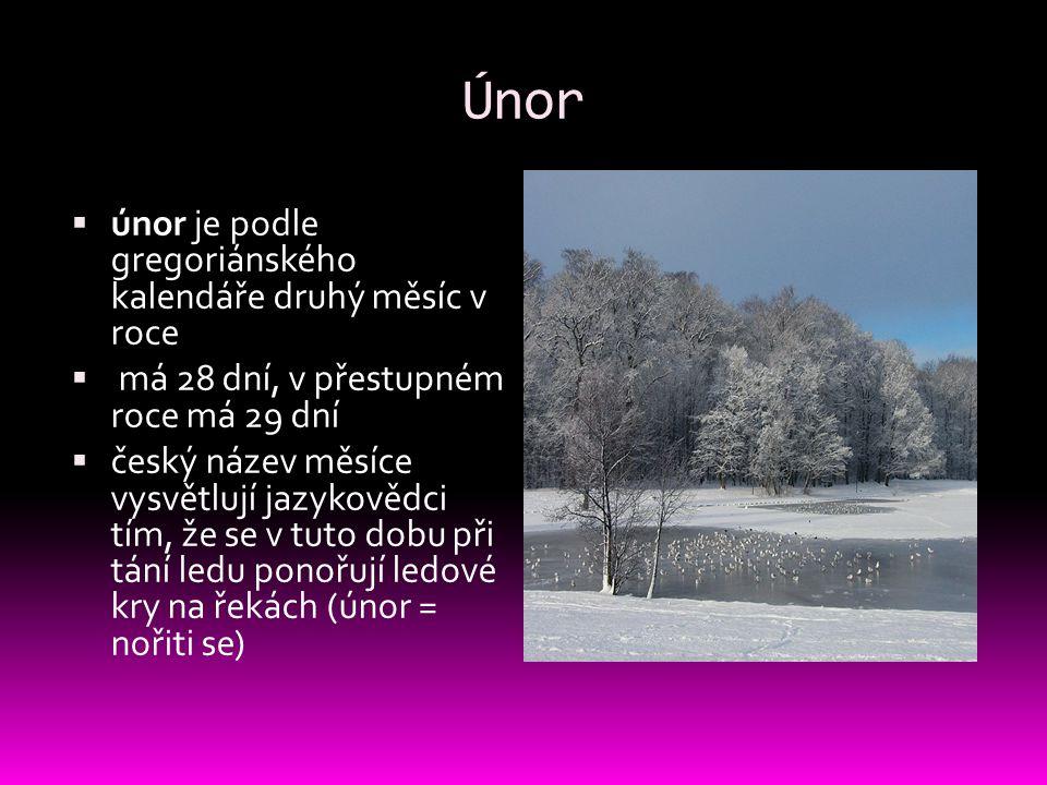 Únor únor je podle gregoriánského kalendáře druhý měsíc v roce