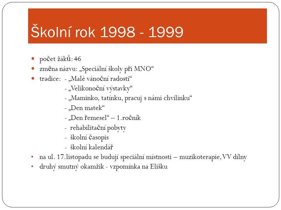 Školní rok 1998 - 1999 počet žáků: 46