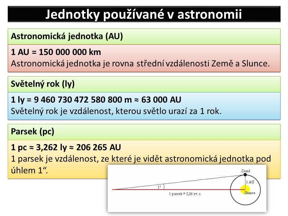 Jednotky používané v astronomii