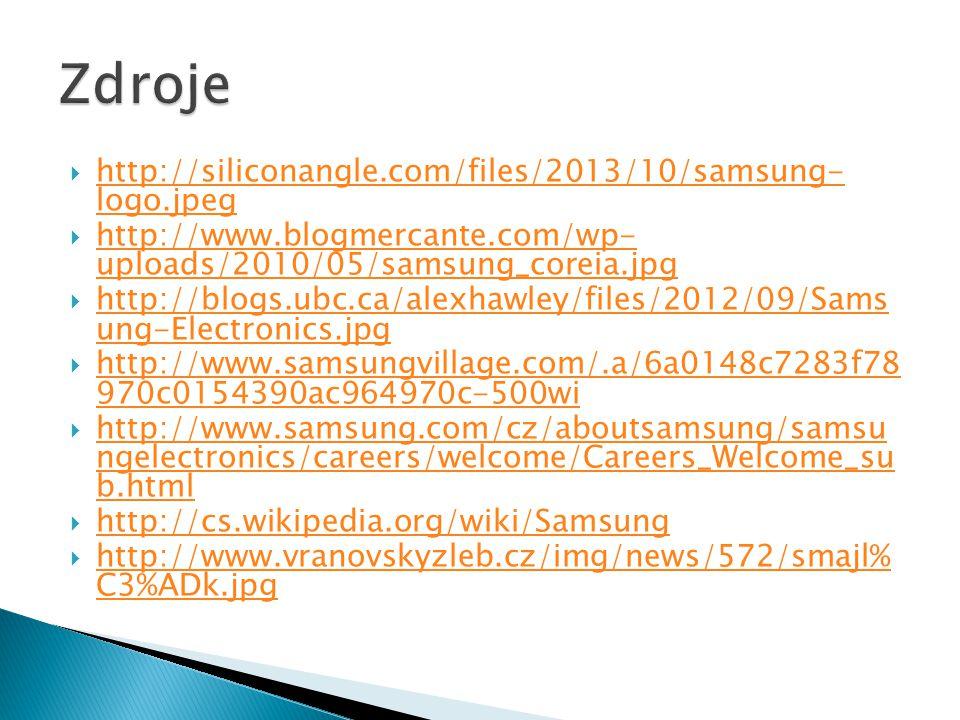Zdroje http://siliconangle.com/files/2013/10/samsung- logo.jpeg