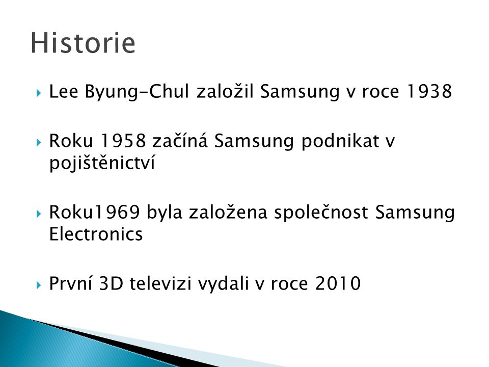 Historie Lee Byung-Chul založil Samsung v roce 1938