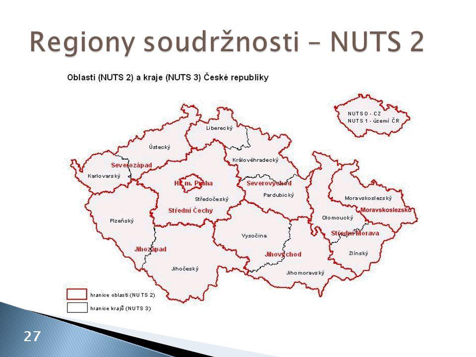 Regiony soudržnosti – NUTS 2