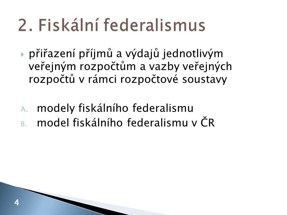 2. Fiskální federalismus