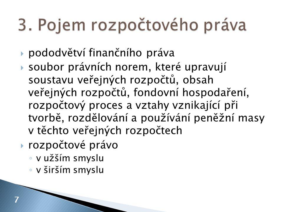3. Pojem rozpočtového práva