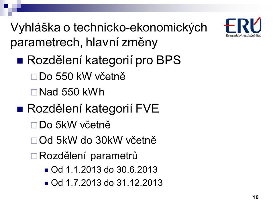 Vyhláška o technicko-ekonomických parametrech, hlavní změny