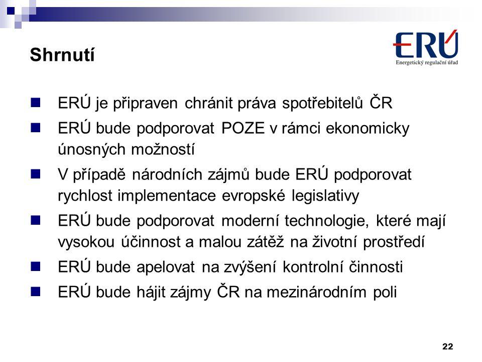 Shrnutí ERÚ je připraven chránit práva spotřebitelů ČR