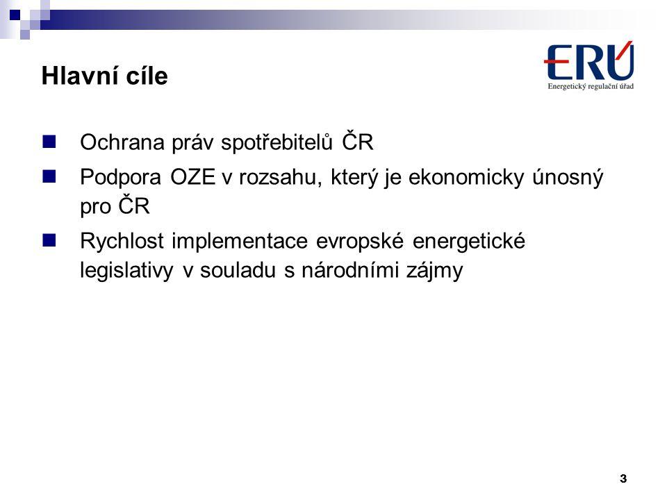 Hlavní cíle Ochrana práv spotřebitelů ČR