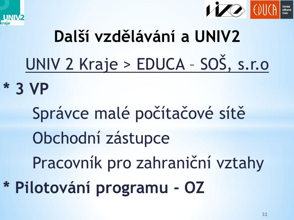 Další vzdělávání a UNIV2