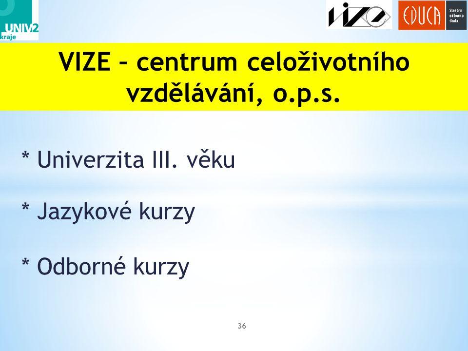 VIZE – centrum celoživotního