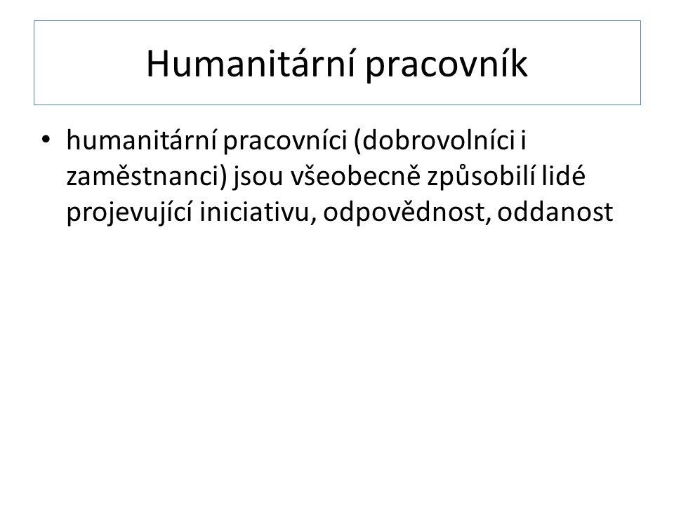 Humanitární pracovník