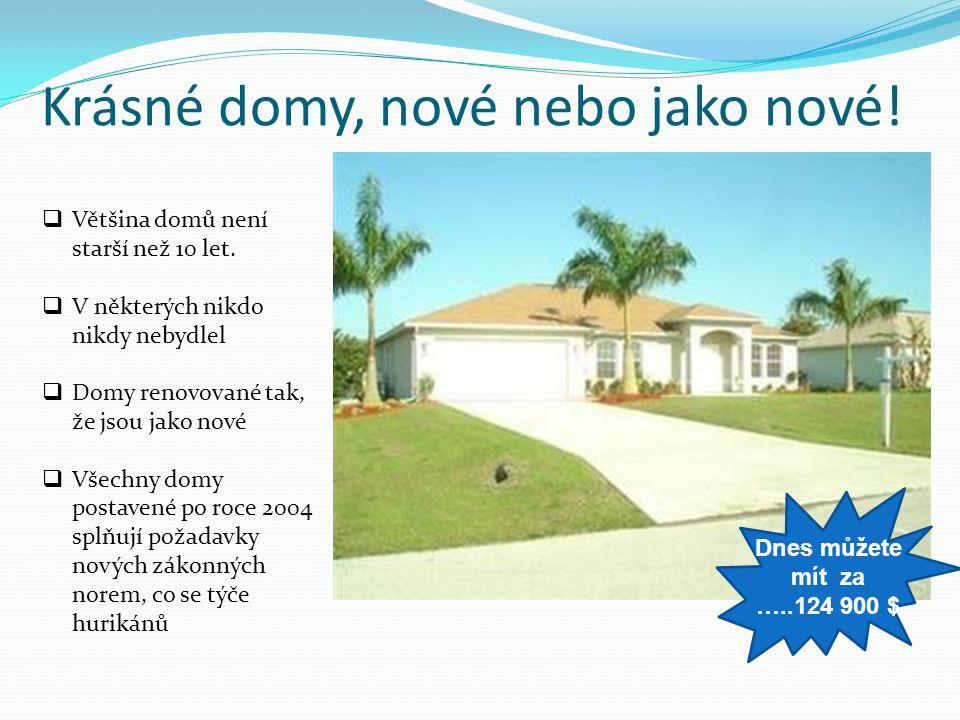Krásné domy, nové nebo jako nové!