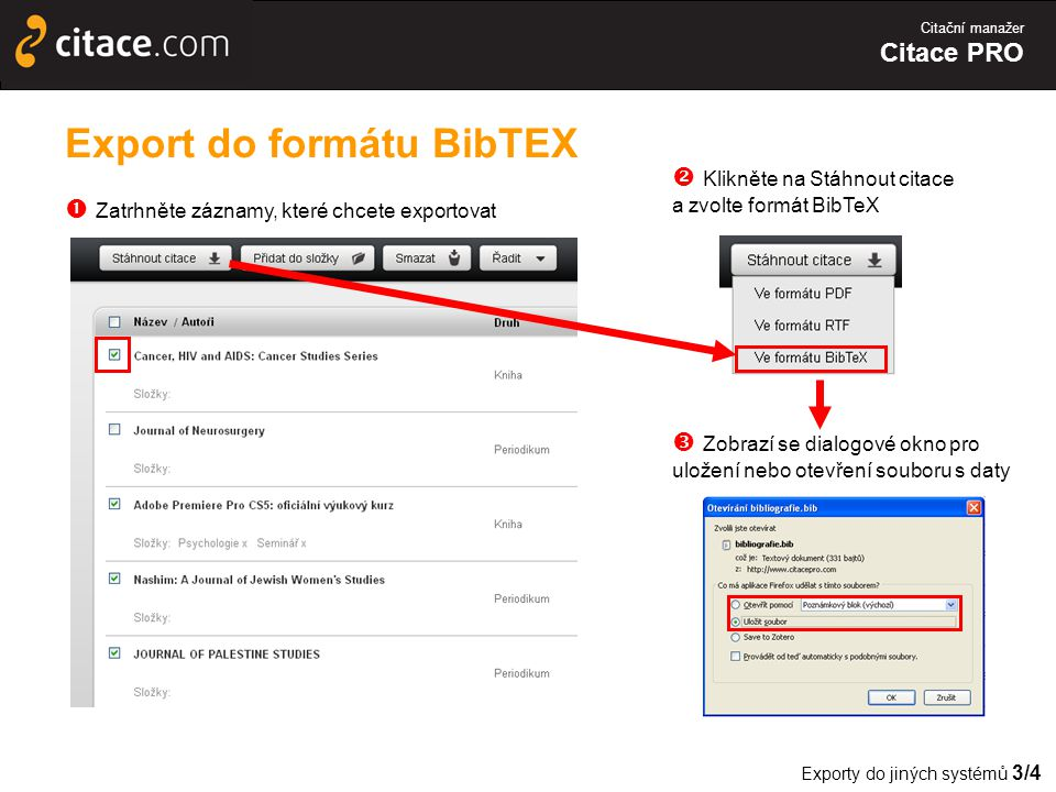 Export do formátu BibTEX