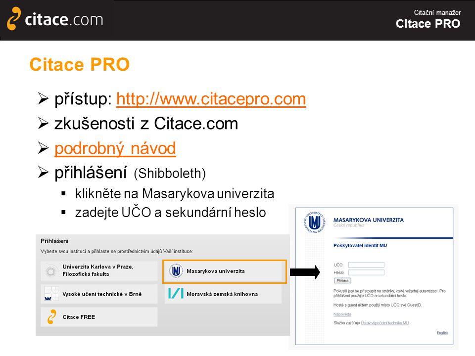 Citace PRO přístup: http://www.citacepro.com zkušenosti z Citace.com