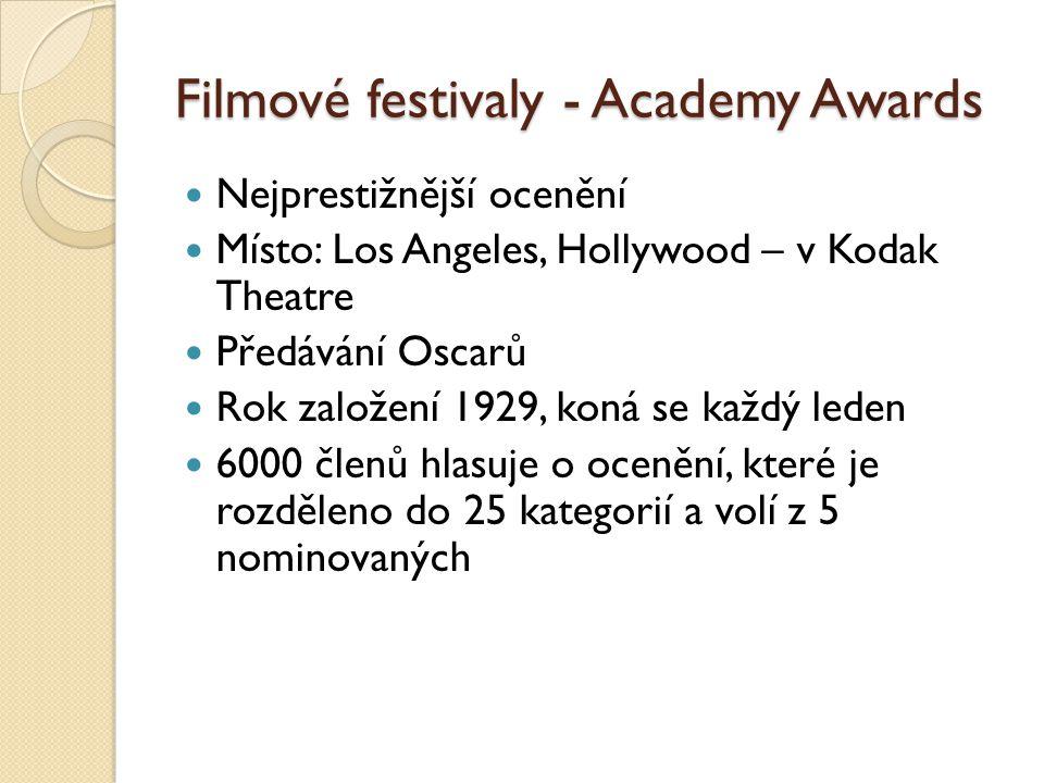 Filmové festivaly - Academy Awards