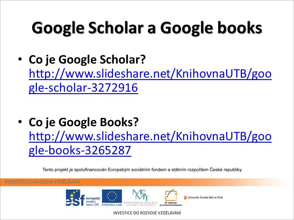 Google Scholar a Google books