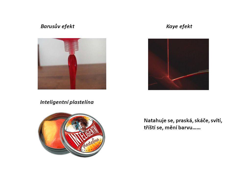 Barusův efekt Kaye efekt. Inteligentní plastelína.