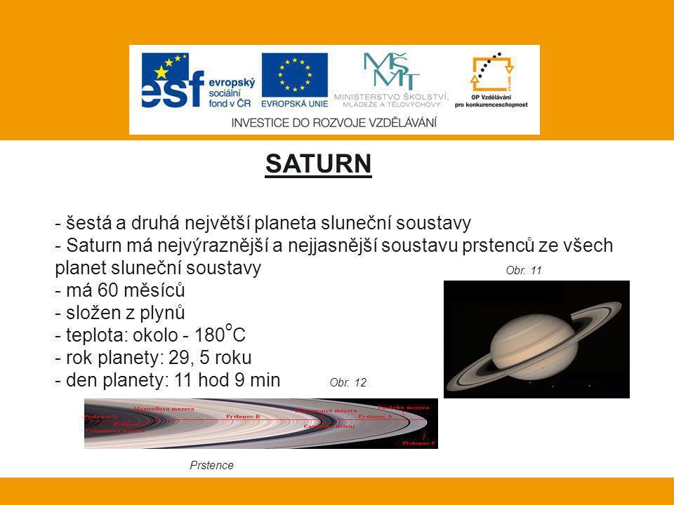 Vlastní práce: SATURN šestá a druhá největší planeta sluneční soustavy