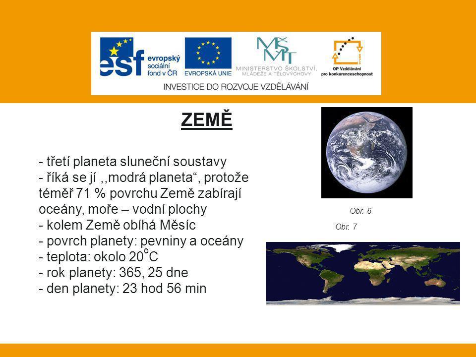 Vlastní práce: ZEMĚ třetí planeta sluneční soustavy