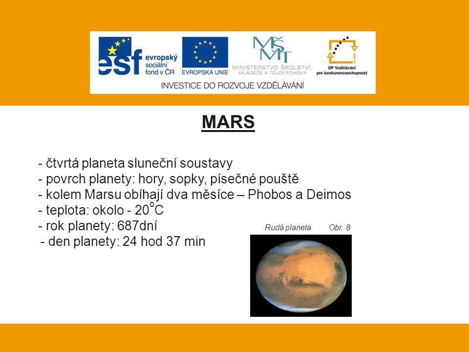Vlastní práce: MARS čtvrtá planeta sluneční soustavy