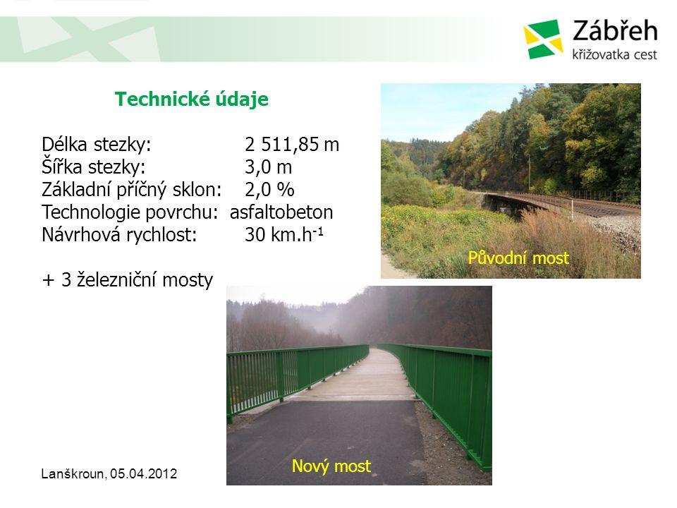 Základní příčný sklon: 2,0 % Technologie povrchu: asfaltobeton