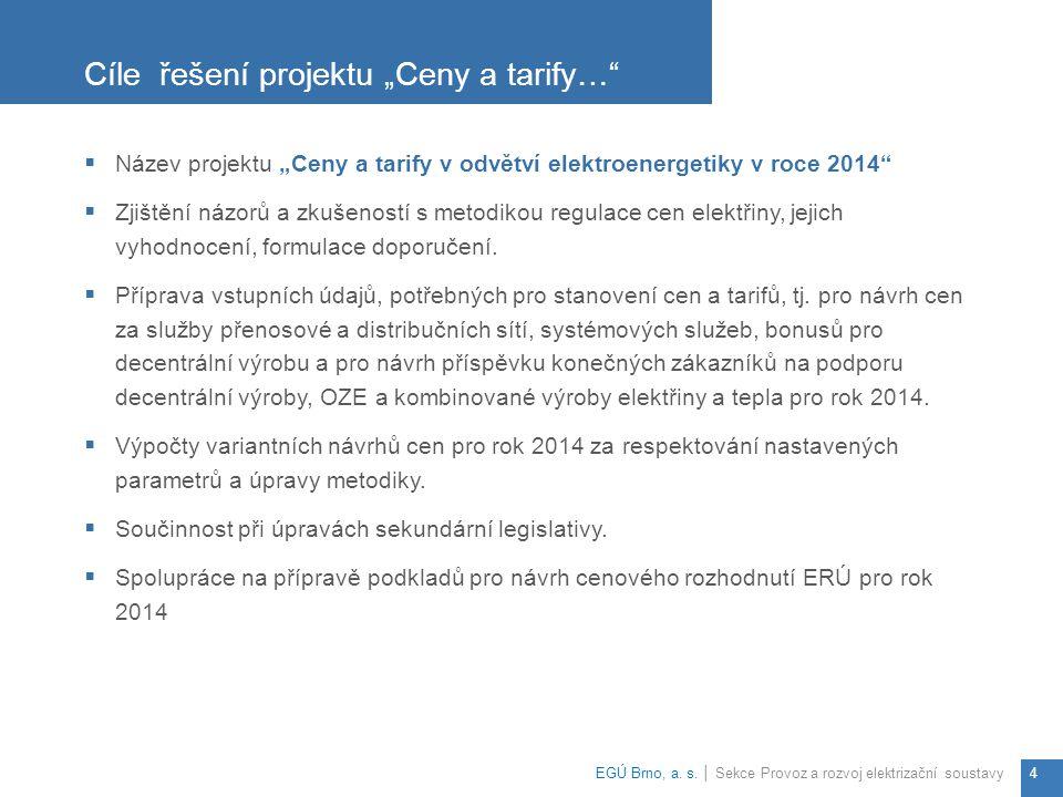 """Cíle řešení projektu """"Ceny a tarify…"""