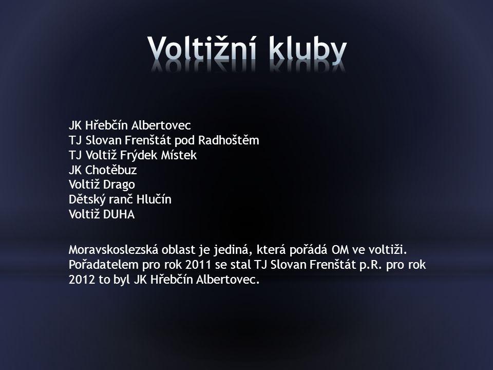 Voltižní kluby JK Hřebčín Albertovec TJ Slovan Frenštát pod Radhoštěm