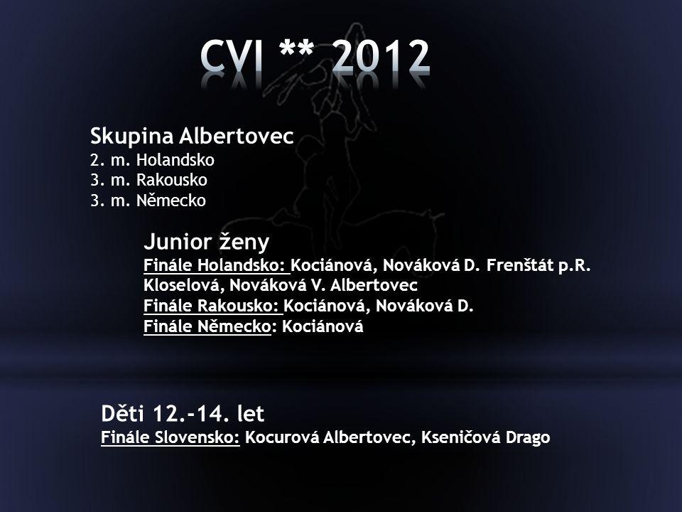 CVI ** 2012 Skupina Albertovec Junior ženy Děti 12.-14. let