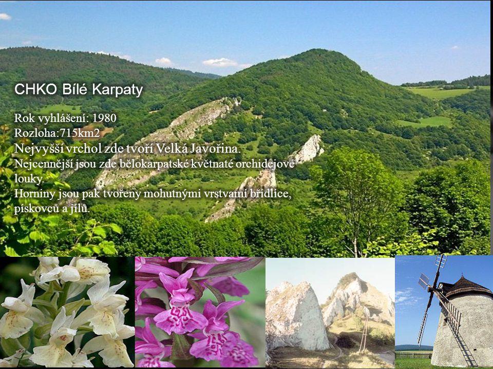 CHKO Bílé Karpaty Nejvyšší vrchol zde tvoří Velká Javořina.