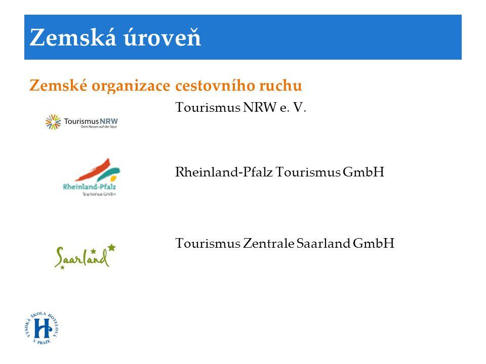 Zemská úroveň Zemské organizace cestovního ruchu Tourismus NRW e. V.