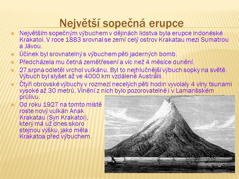 Největší sopečná erupce