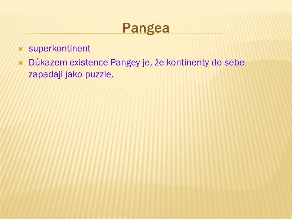 Pangea superkontinent