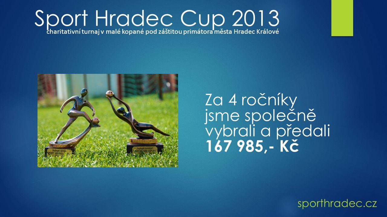 Sport Hradec Cup 2013 charitativní turnaj v malé kopané pod záštitou primátora města Hradec Králové.