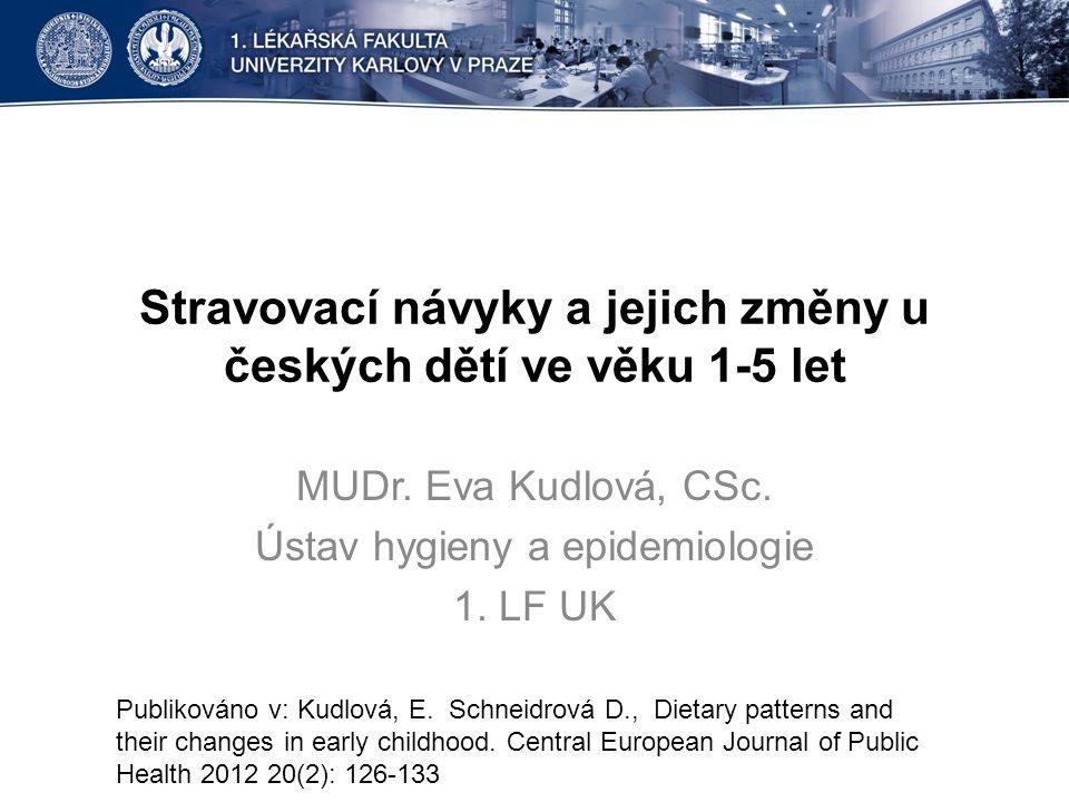 Stravovací návyky a jejich změny u českých dětí ve věku 1-5 let