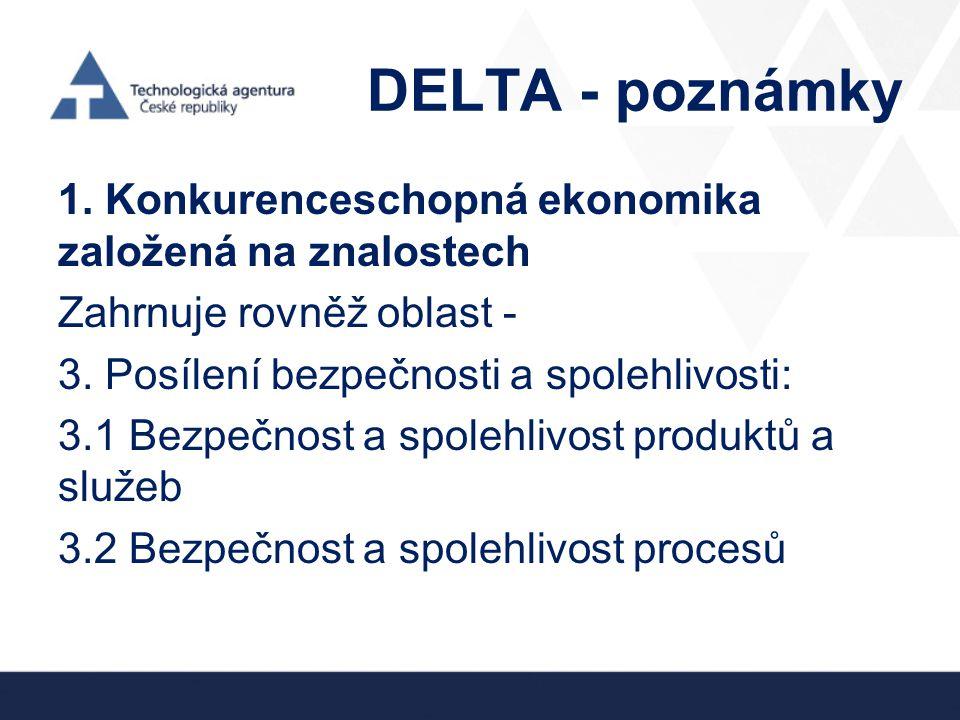 DELTA - poznámky