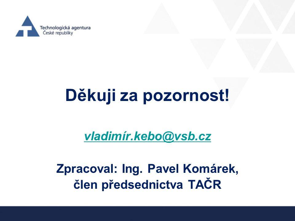 Zpracoval: Ing. Pavel Komárek, člen předsednictva TAČR