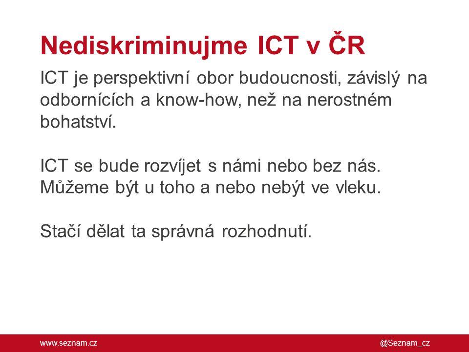 Nediskriminujme ICT v ČR