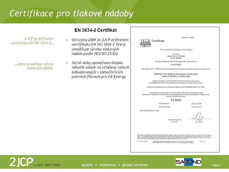 Certifikace pro tlakové nádoby