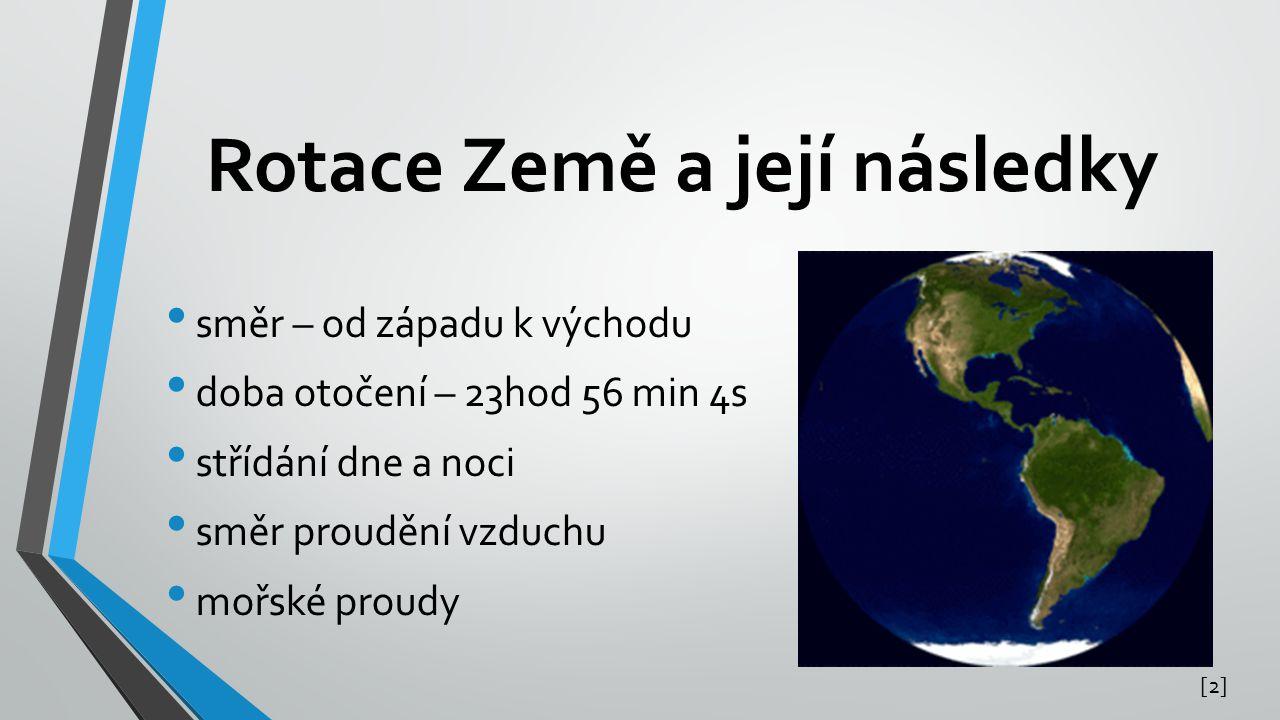 Rotace Země a její následky