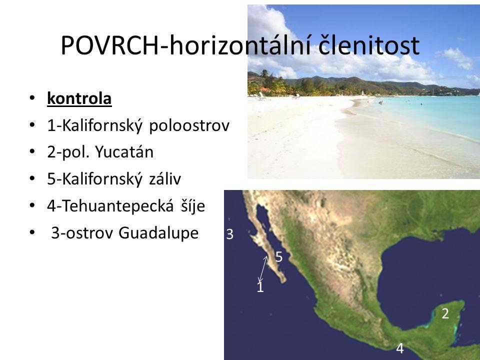 POVRCH-horizontální členitost