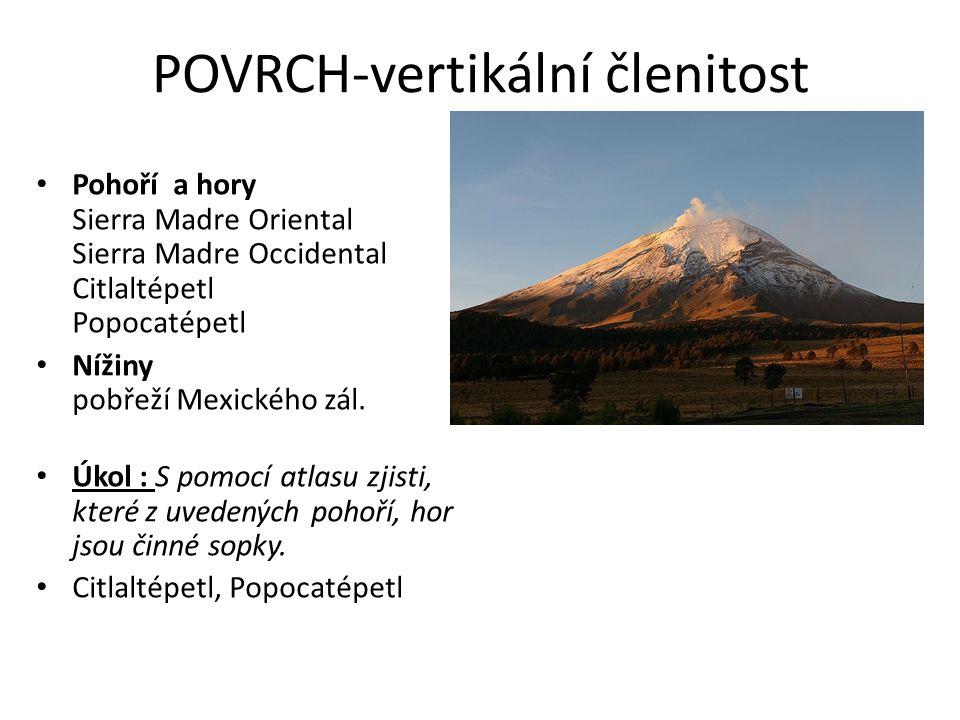 POVRCH-vertikální členitost