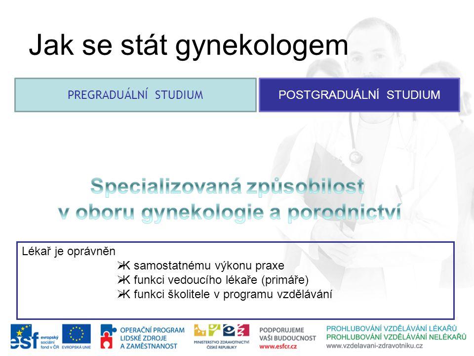 Specializovaná způsobilost v oboru gynekologie a porodnictví