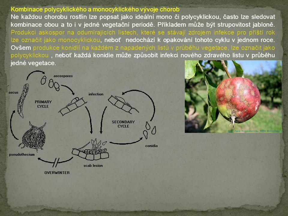 Kombinace polycyklického a monocyklického vývoje chorob