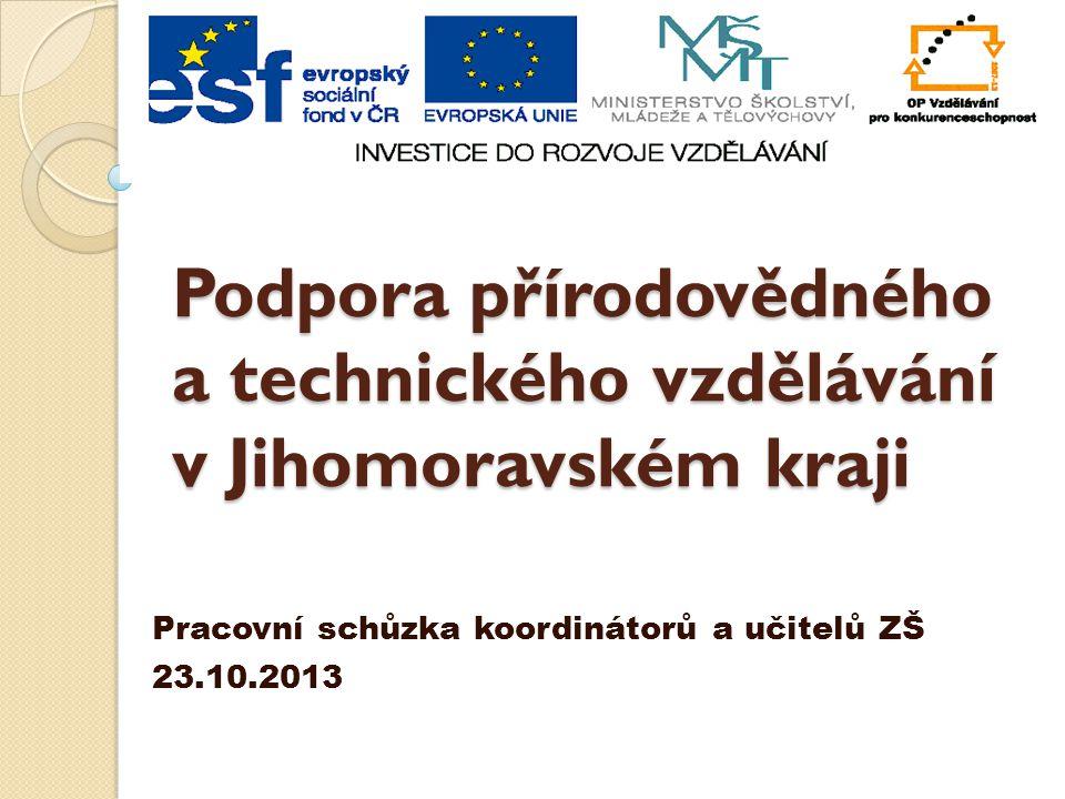 Podpora přírodovědného a technického vzdělávání v Jihomoravském kraji