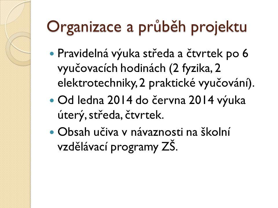Organizace a průběh projektu