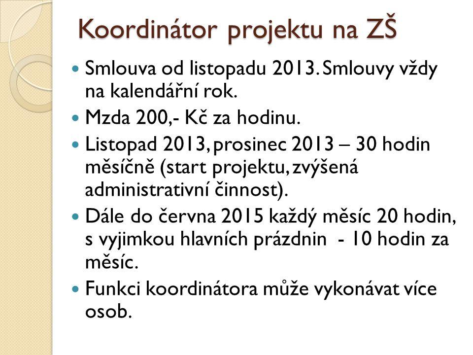 Koordinátor projektu na ZŠ