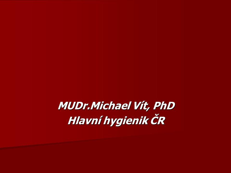 MUDr.Michael Vít, PhD Hlavní hygienik ČR
