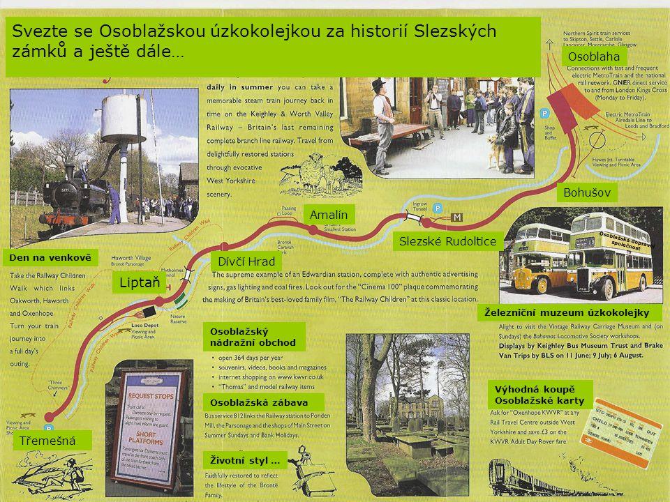 Svezte se Osoblažskou úzkokolejkou za historií Slezských zámků a ještě dále…